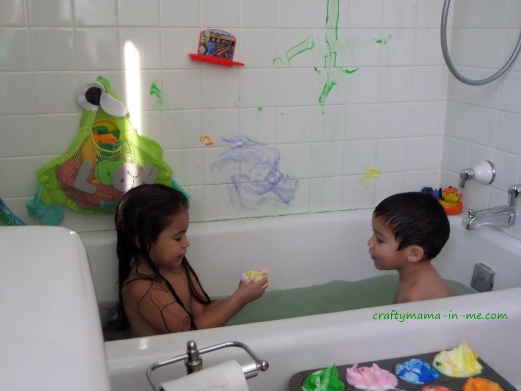 Shaving Cream Bathtub Paint