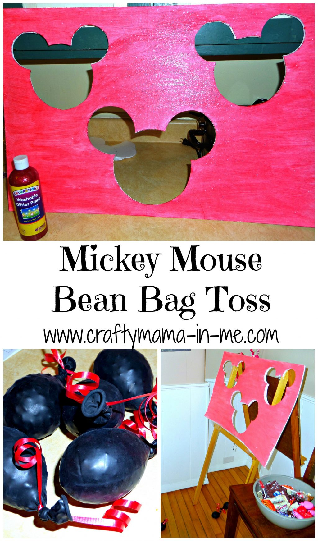 Mickey Mouse Bean Bag Toss Crafty Mama In Me