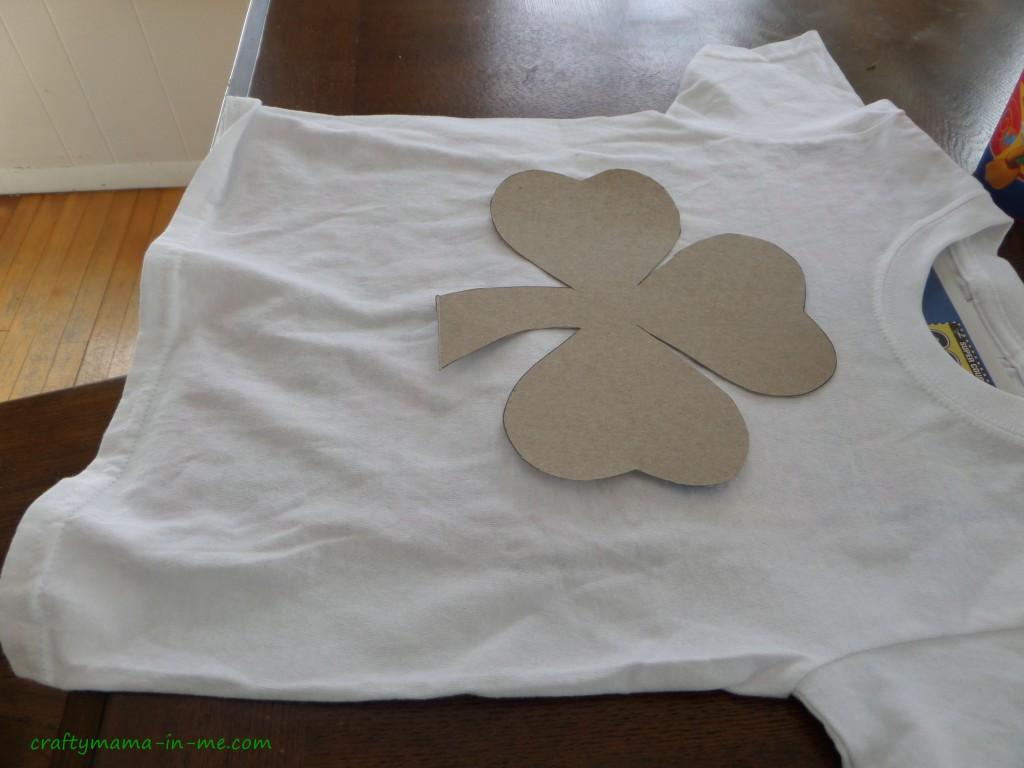 Shamrock Eraser Stamped T-shirts
