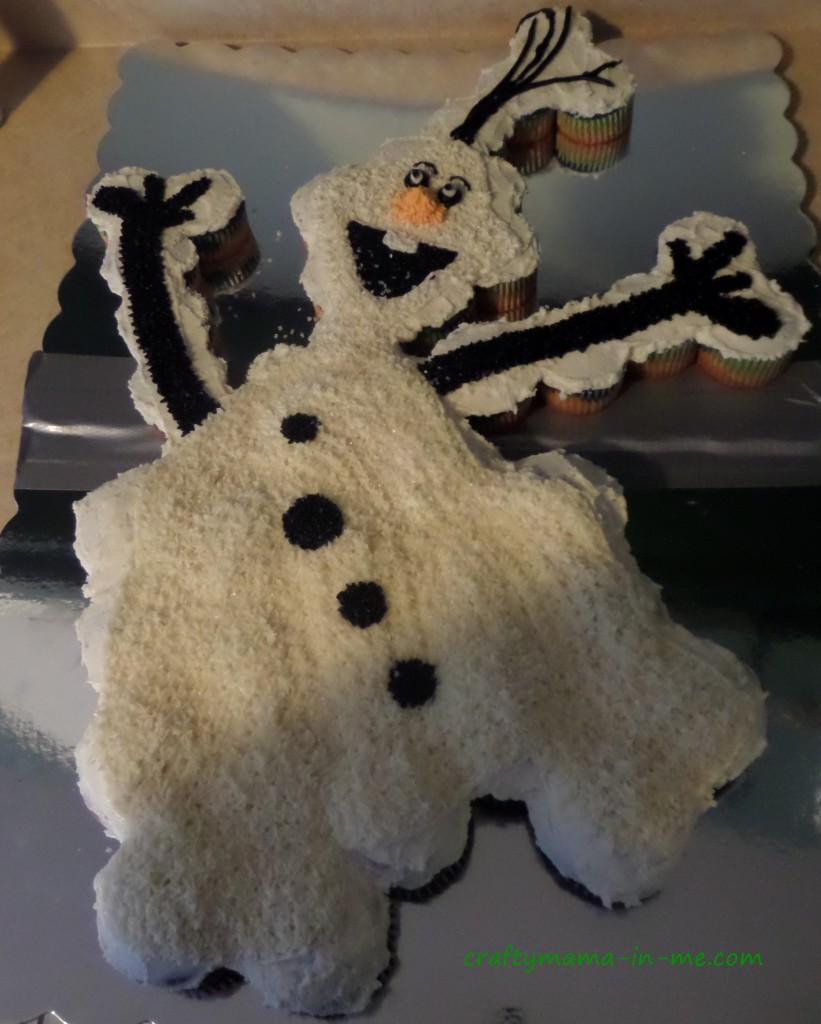 Olaf cupcake cake tutorial crafty mama in me