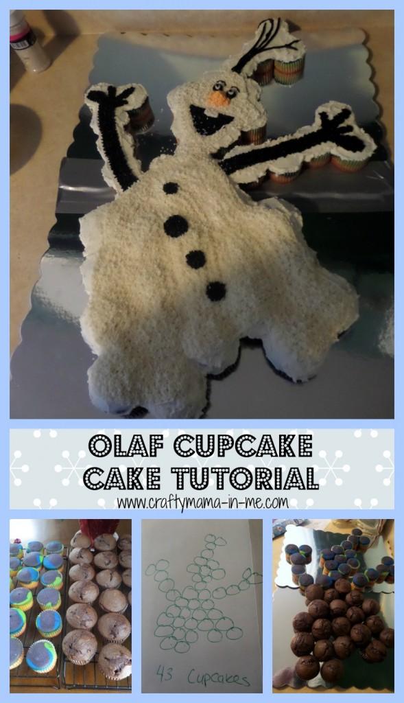 Olaf Cupcake Cake Tutorial