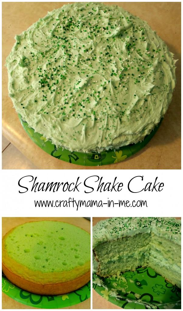 Shamrock Shake Cake