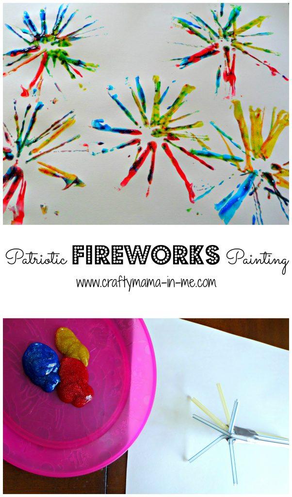 Patriotic Fireworks Painting
