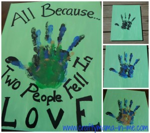 Family Handprint Canvas
