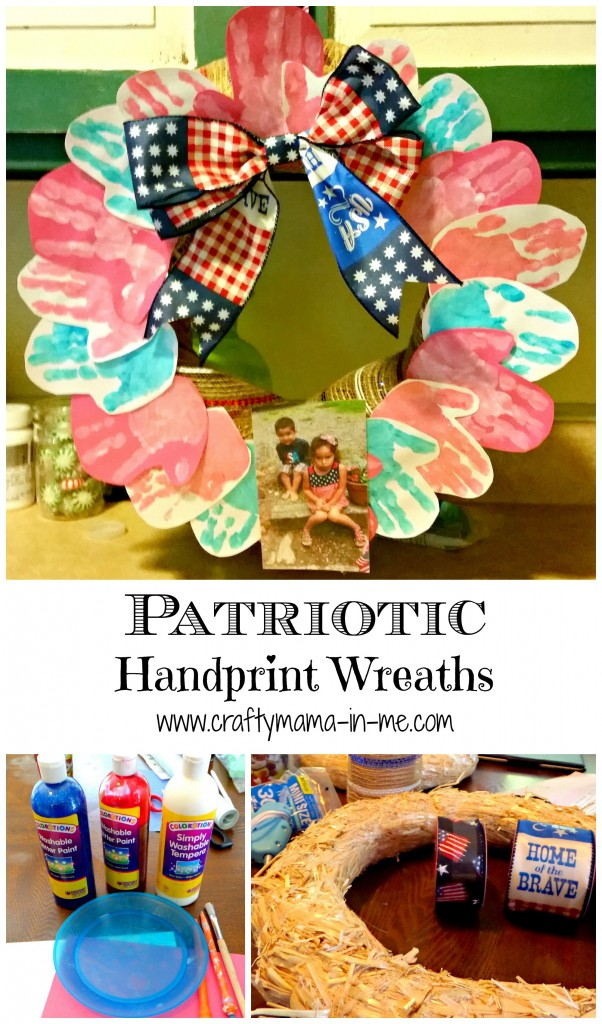 Patriotic Handprint Wreaths