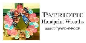 Patriotic Handprint Wreaths