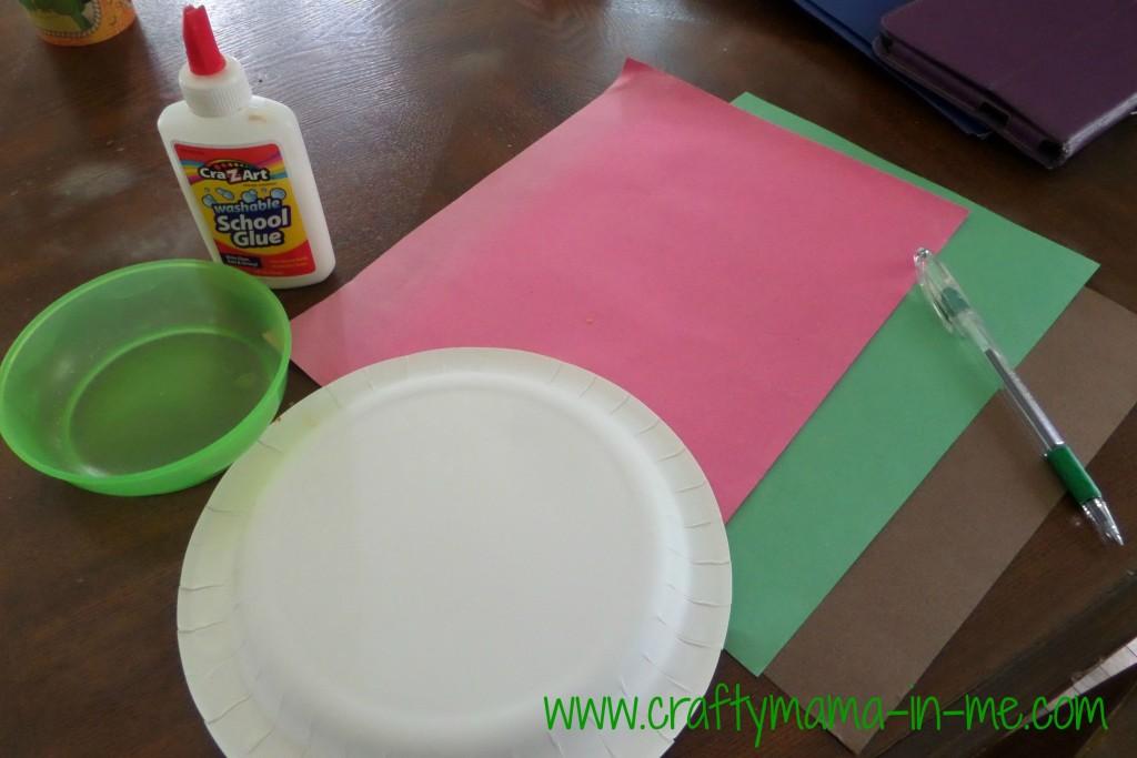 Handprint Paper Plate Apples