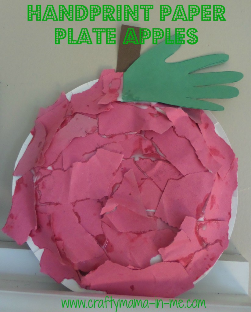 Handprint Paper Plate Apples