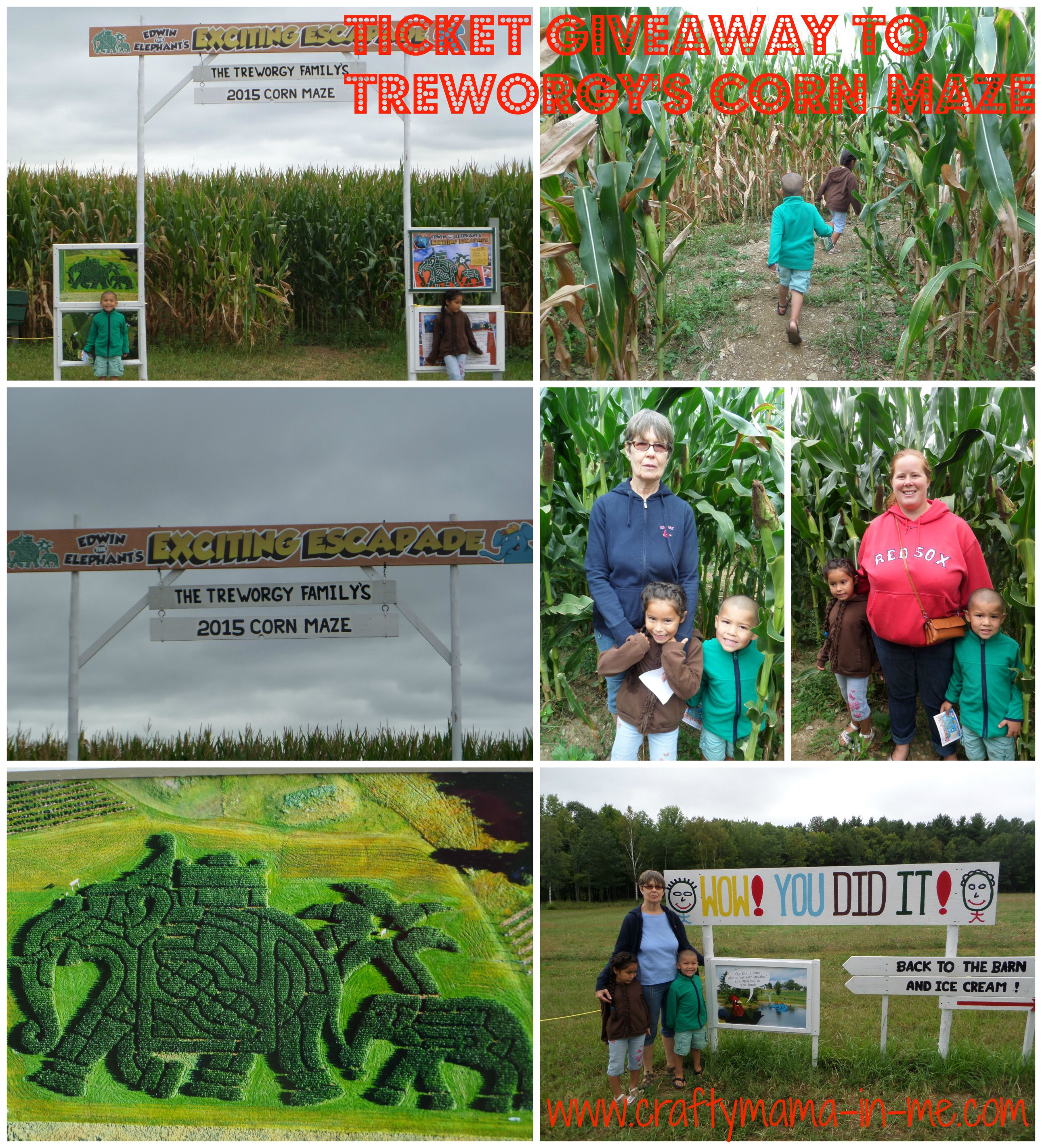 Ticket Giveaway to the Treworgy's Corn Maze