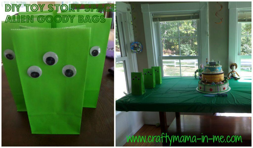 DIY Toy Story Space Alien Goody Bags
