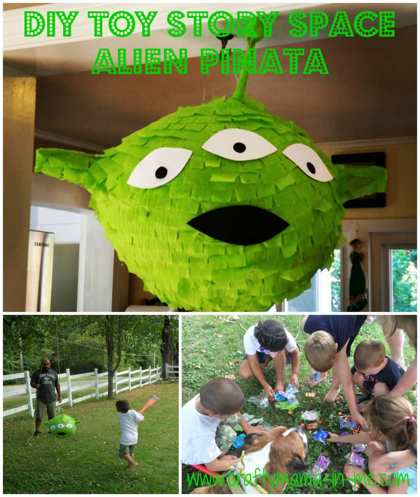 DIY Toy Story Space Alien Piñata
