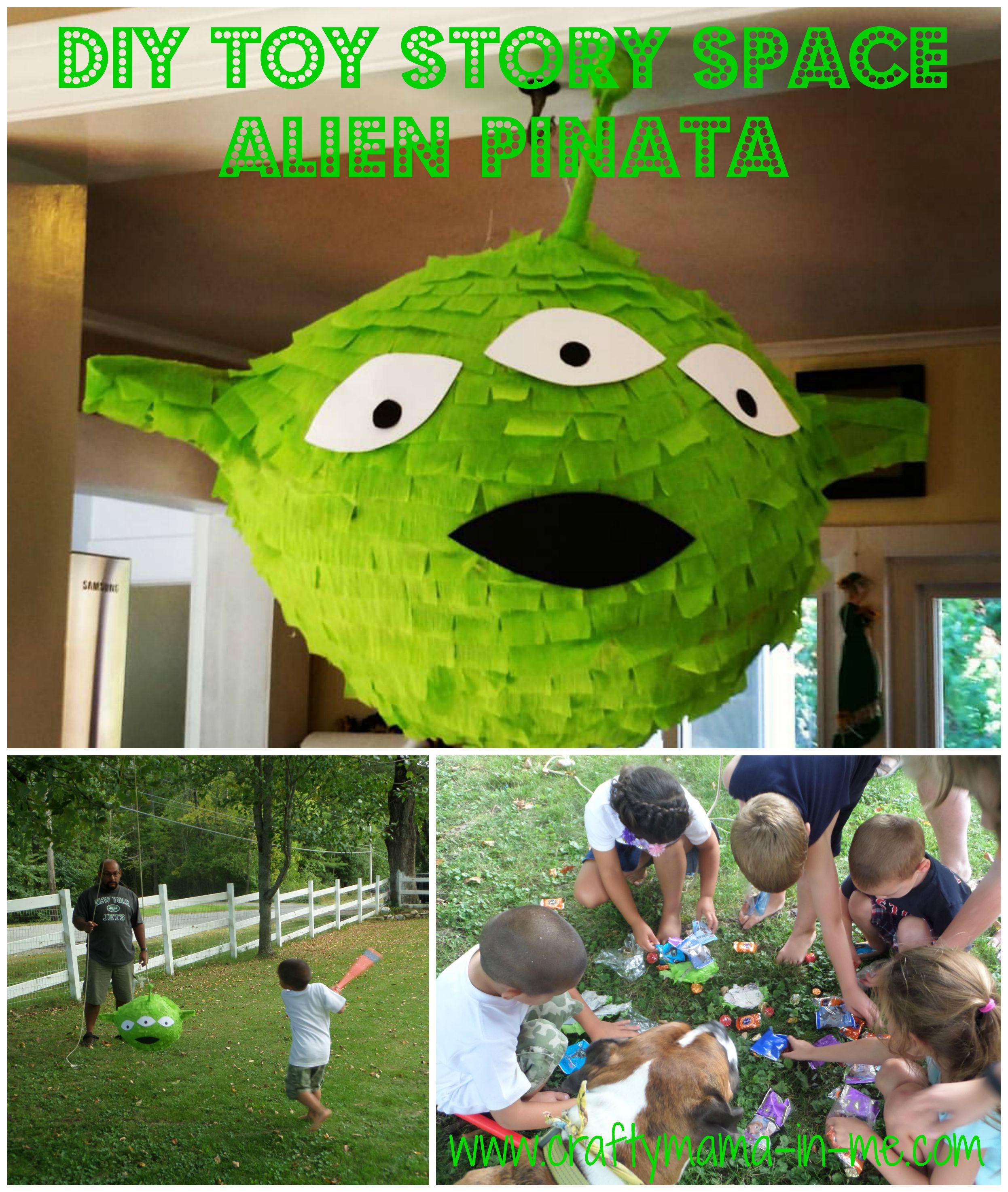 diy toy story space alien pi u00f1ata
