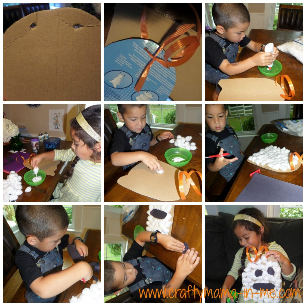Easy to Make Spooky Halloween Cotton Ball Ghost Kids Craft