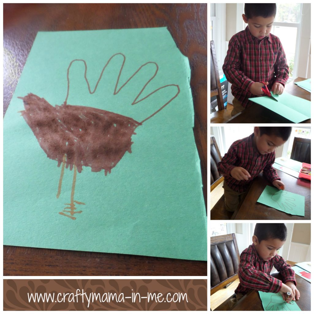 Cute Candy Corn Handprint Turkey for Thanksgiving
