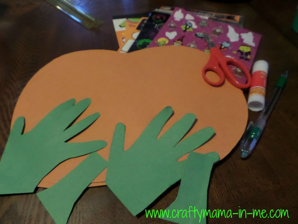 Fine Motor Skill Handprint Pumpkin Activity