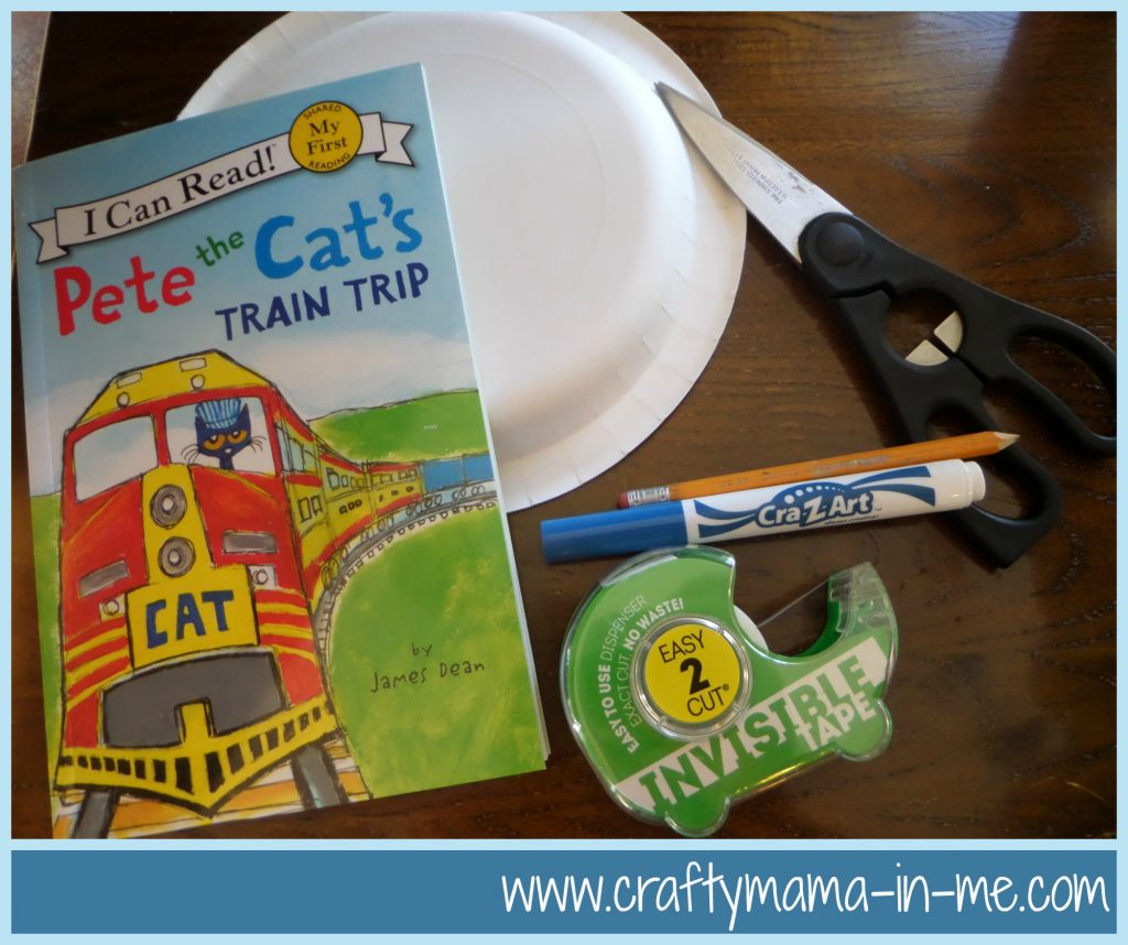DIY Engineer Paper Plate Hat Inspired by Pete the Cat