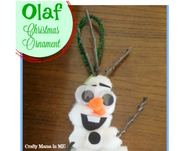 Cute and Easy DIY Olaf Cotton Ball Christmas Ornament