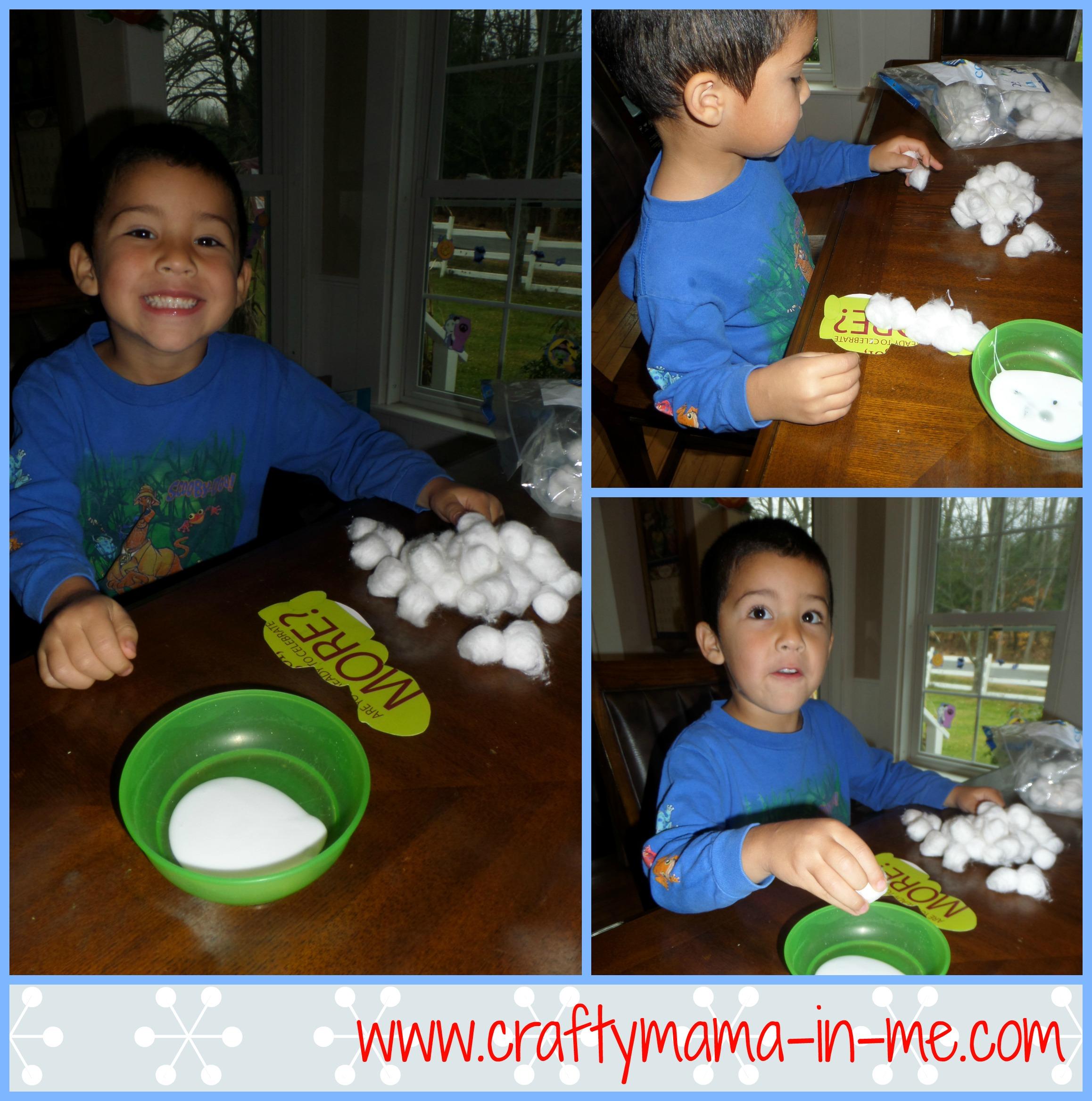 Cute and Easy DIY Olaf Cotton Ball Christmas Ornament - Crafty Mama ...