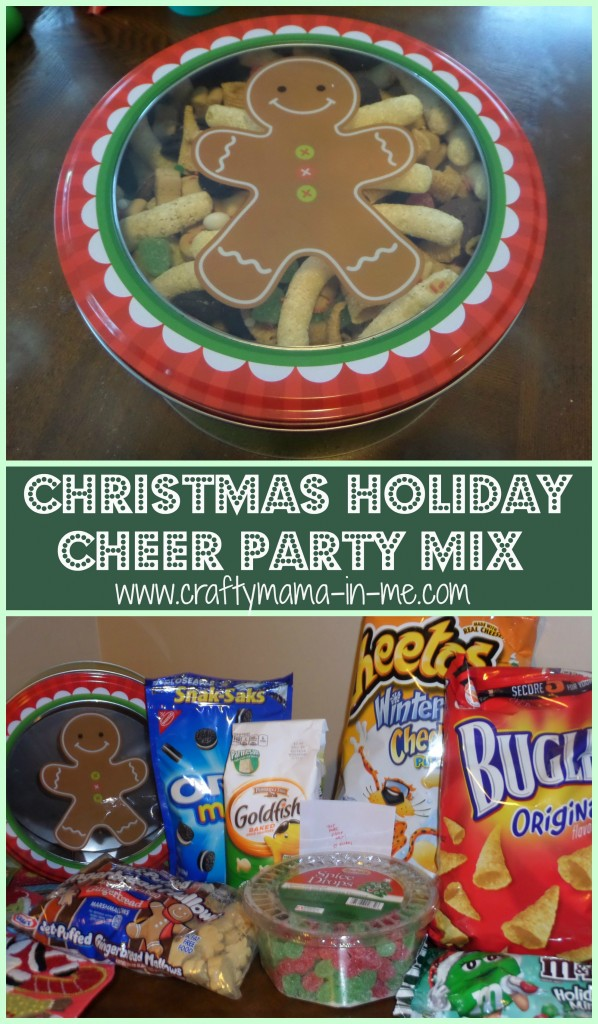 Easy to Make Christmas Holiday Cheer Party Mix