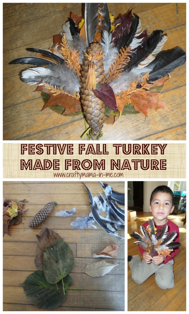 Festive Fall Turkey made from Nature