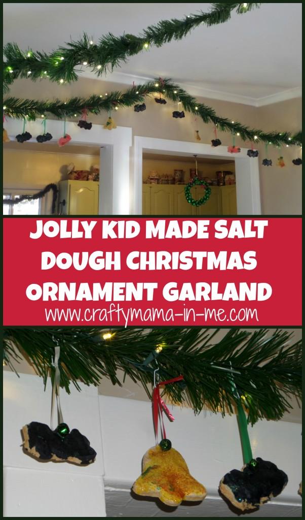 Jolly Kid Made Salt Dough Christmas Ornament Garland