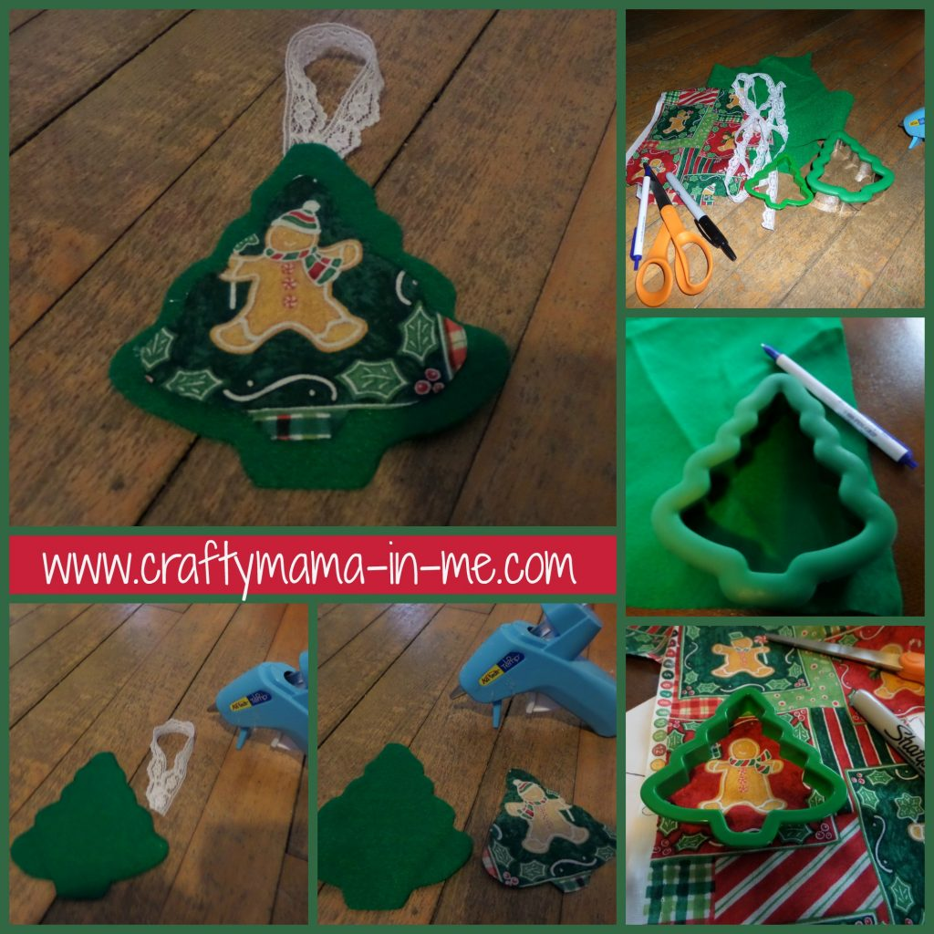 Kid Friendly No Sew Christmas Tree Ornament