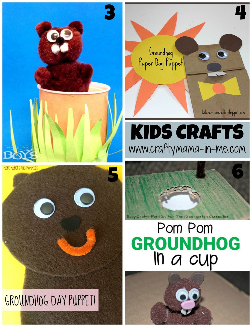 Roundup Of 16 Great Groundhogs Day Ideas Crafty Mama In Me