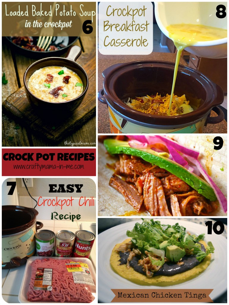 Roundup of Crock Pot and Freezer Meal Recipes