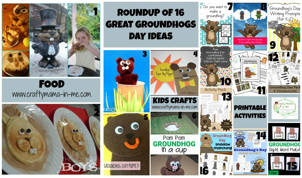 Roundup of 16 Great Groundhogs Day Ideas