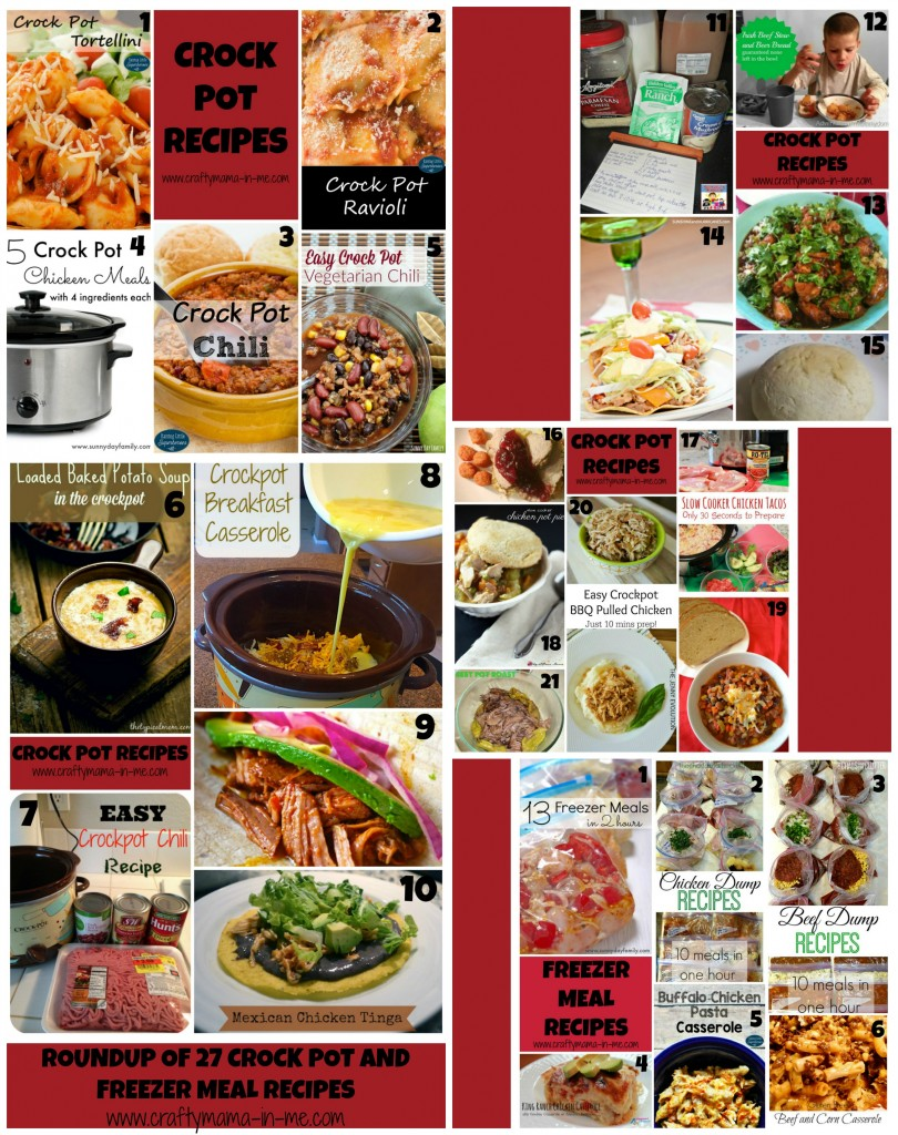 Roundup of 27 Crock Pot and Freezer Meal Recipes