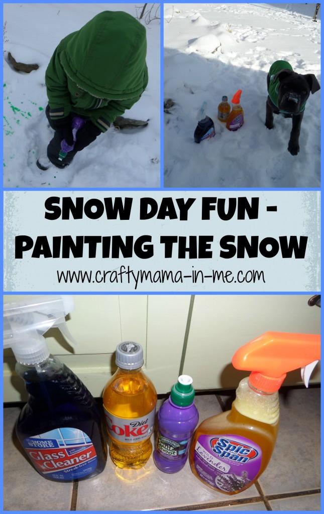 Snow Day Fun - Painting the Snow