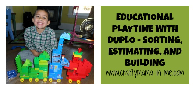 Educational Playtime with Duplo® - Sorting, Estimating, and Building
