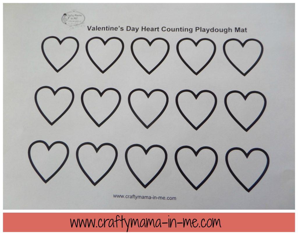 Valentine's Day Jello Playdough and Free Printable Mat