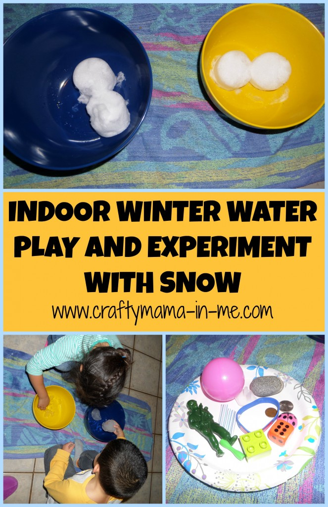 Indoor Winter Water Play and Experiment with Snow
