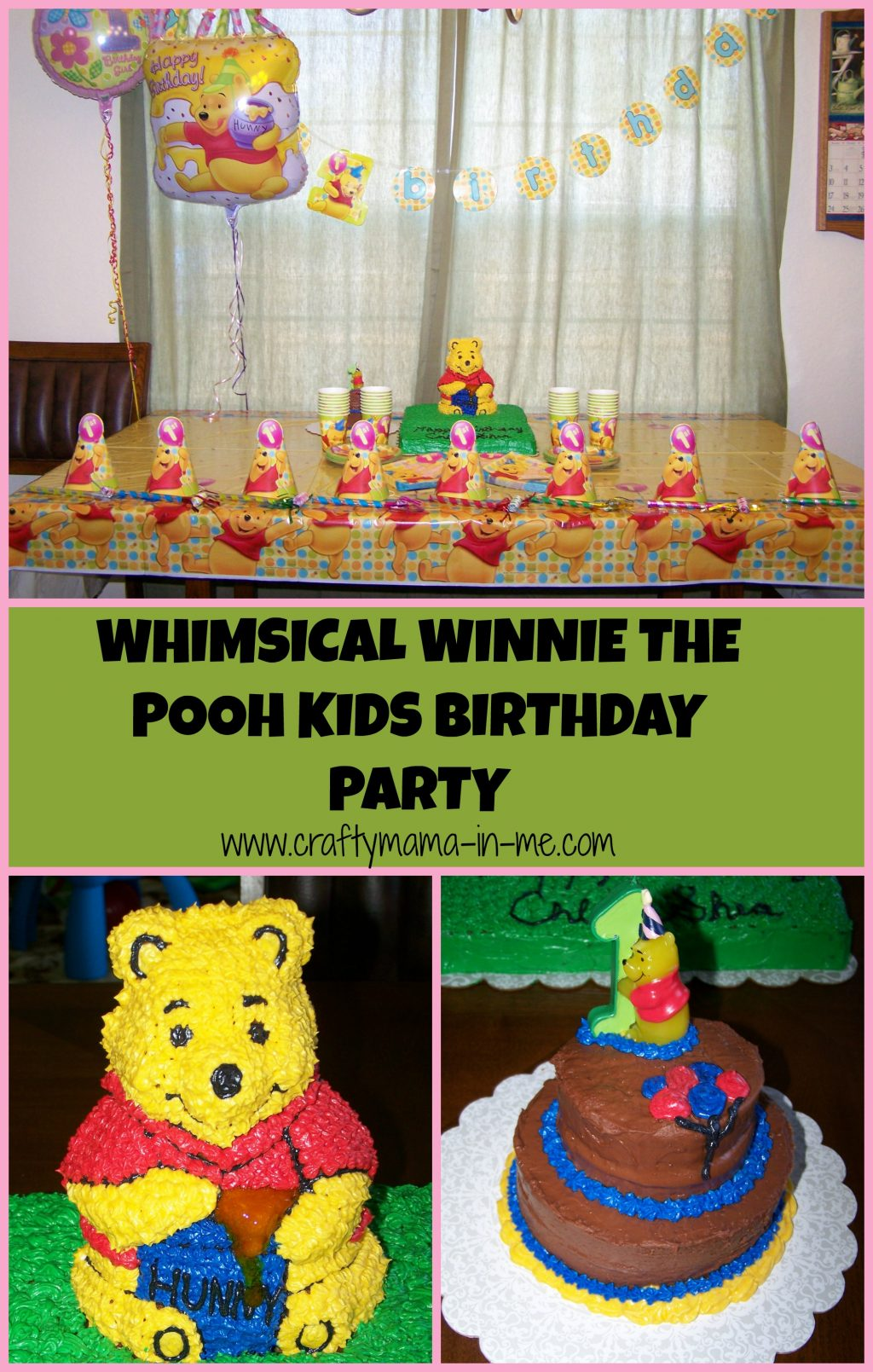 Whimsical Winnie The Pooh Kids Birthday Party Crafty Mama In Me