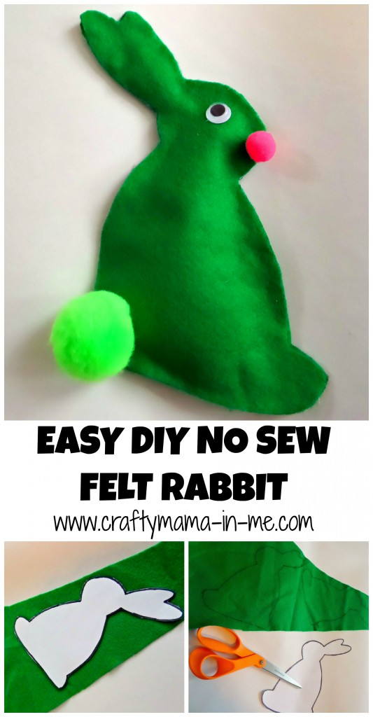 Easy DIY No Sew Felt Rabbit