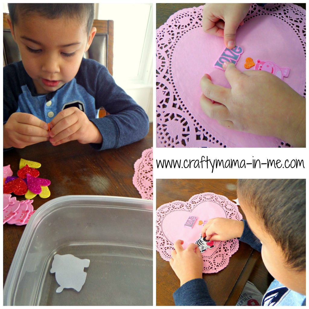 Valentine's Day Hearts Decorated with Foam Stickers