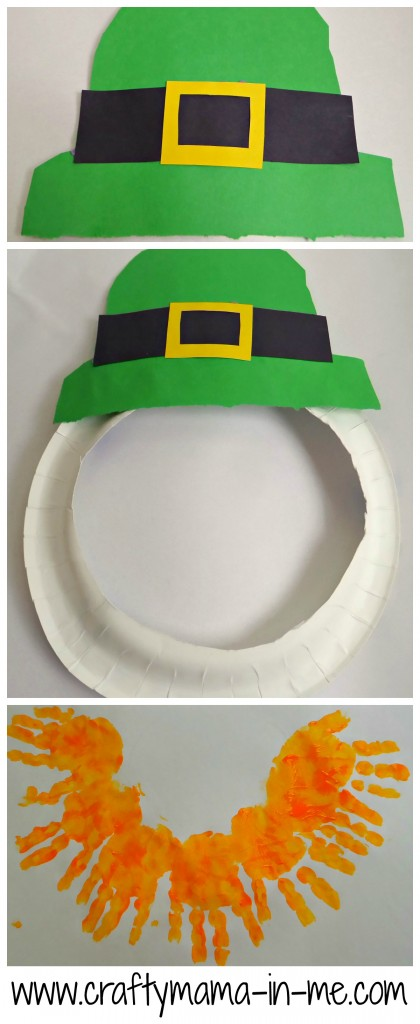 Fun and Easy Paper Plate Leprechaun Mask with Handprint Beard