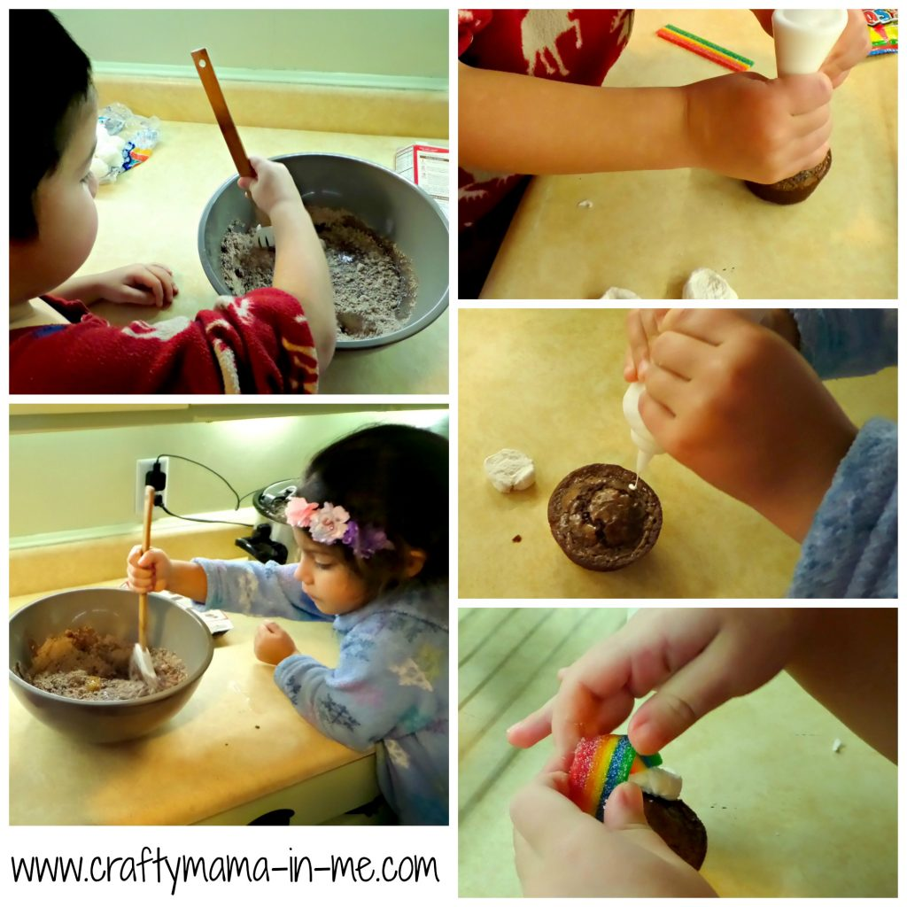 Kids in the Kitchen: Rainbow and Pot of Gold Brownie