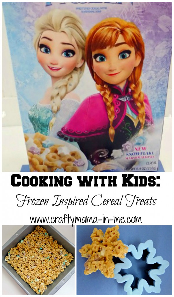 Cooking with Kids: Frozen Inspired Cereal Treats
