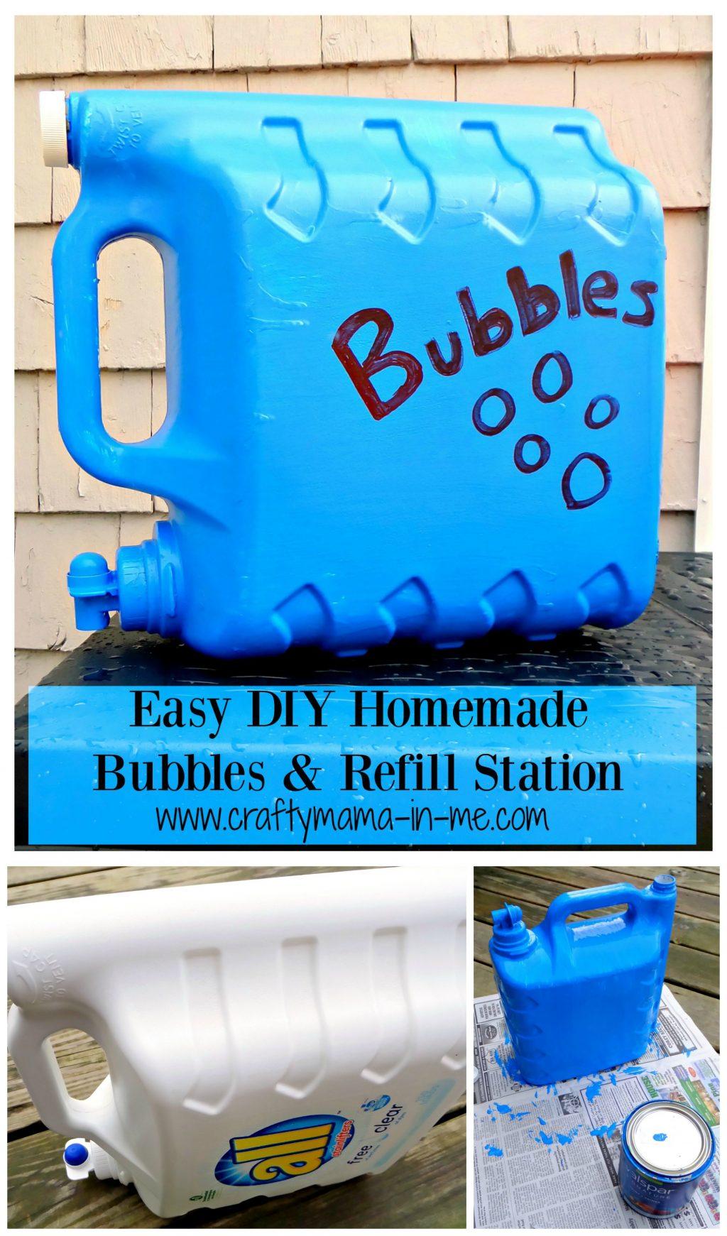 Easy Homemade Playdough Recipe: Easy DIY Homemade Bubbles And Refill Station