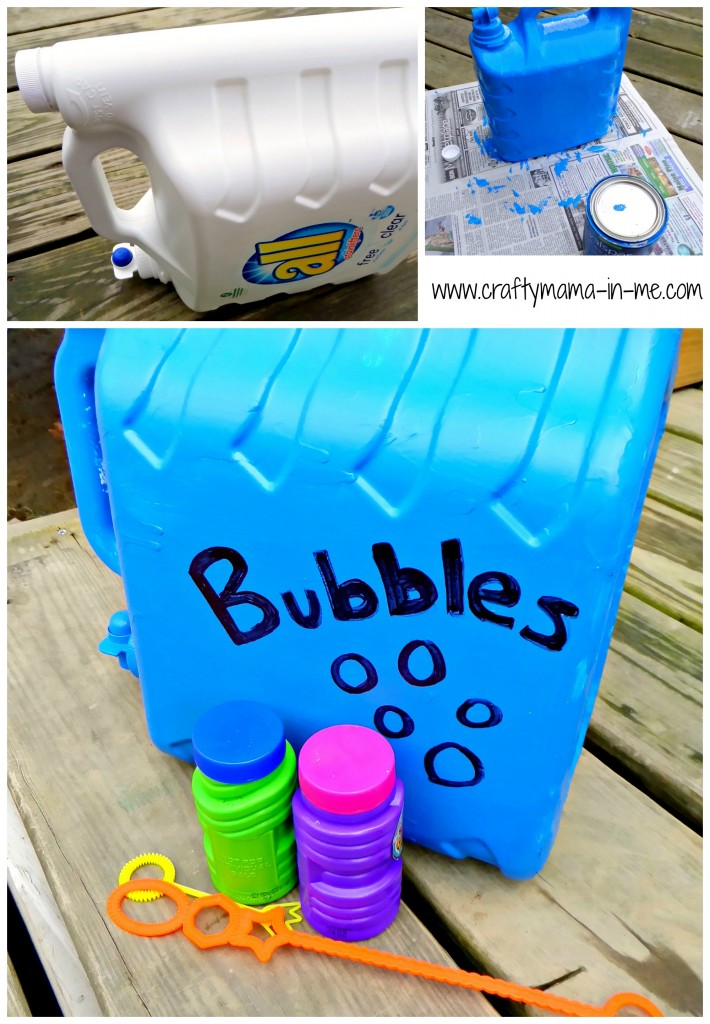 Easy DIY Homemade Bubbles and Refill Station
