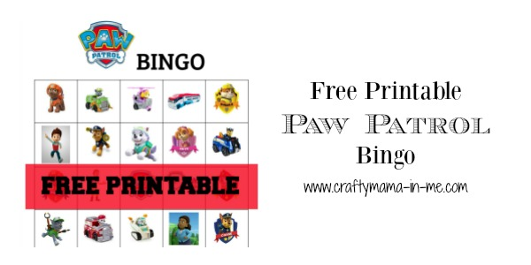 picture about Spring Bingo Game Printable titled Absolutely free Printable Paw Patrol Bingo - Cunning Mama within just ME!