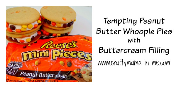 Tempting Peanut Butter Whoopie Pies with Buttercream Filling - Crafty ...