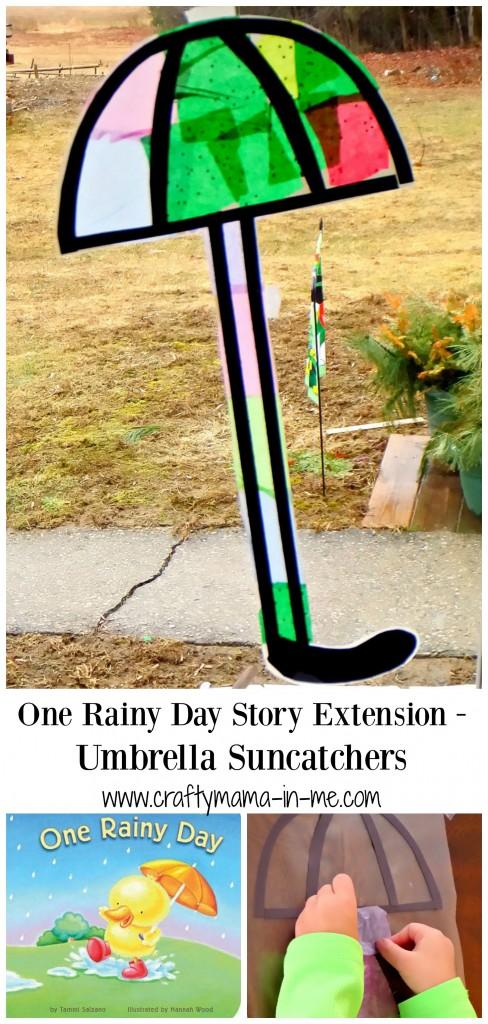 One Rainy Day Story Extension - Umbrella Suncatchers