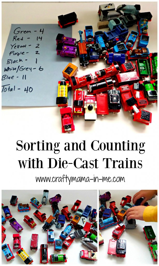 Sorting and Counting with Die-Cast Trains