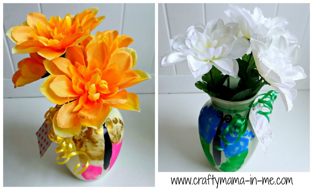 DIY Butterfly Painted Vases