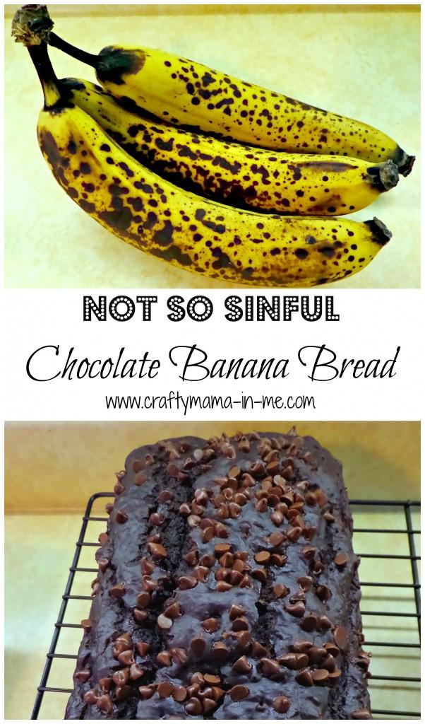 Not So Sinful Chocolate Banana Bread