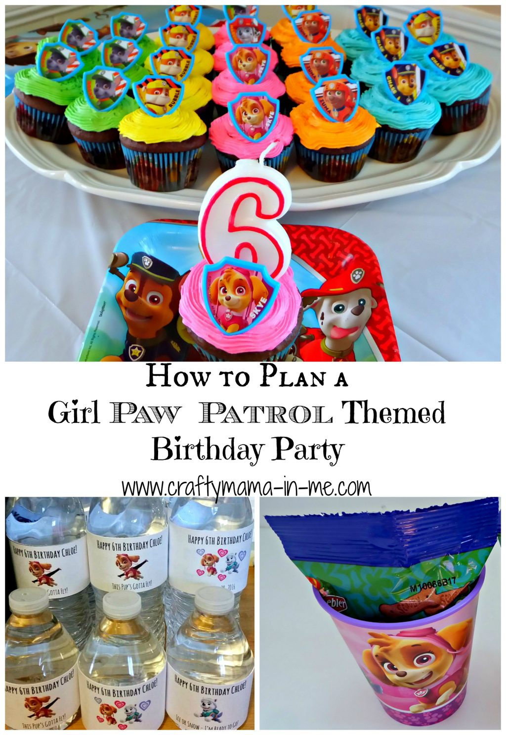How To Plan A Girl Paw Patrol Themed Birthday Party Crafty Mama In Me