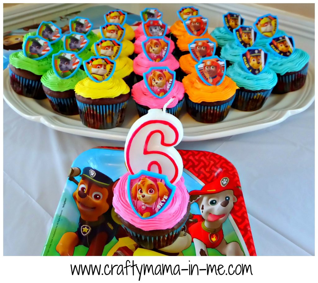 Easy Paw Patrol Cup Cakes